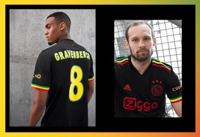 Het nieuwe tenue van Ajax.