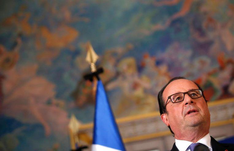 President Hollande. Beeld ap