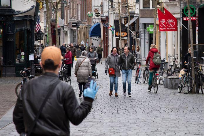 De Lange Hezelstraat in het centrum van Nijmegen. Foto ter illustratie.