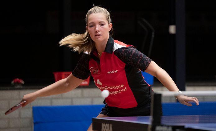Melanie Bierdrager heeft na het vertrek van Carla Nouwen de hoogste rating bij de tafeltennissters van SKF.