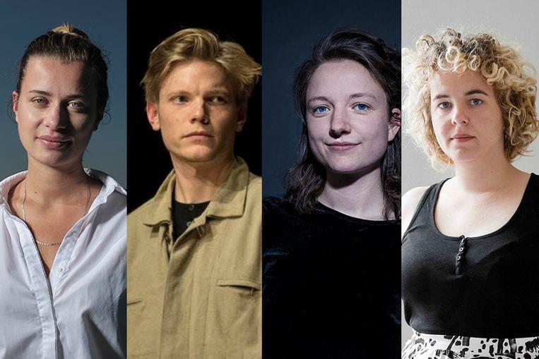 Dieuwertje Heuvelings, Hans Depelchin, Lisa Huissoon en Amarylis De Gryse. Beeld Erik Smits/rv/Leroy Verbeet
