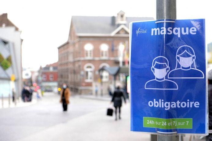 Dorénavant, il est obligatoire d'avoir un masque sur soi lorsque l'on se promène dans les rues de Herstal.