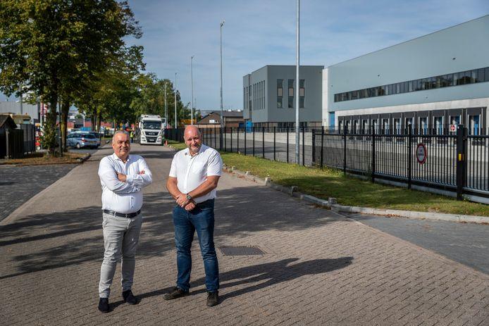 Erik Jennissen (rechts) en Willy van der Velden. De SBBE heeft een plan opgesteld voor betere beveiliging van bedrijvenpark Ekkersrijt.