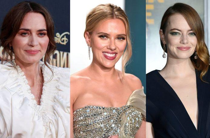Emily Blunt, Scarlett Johansson et Emma Stone.
