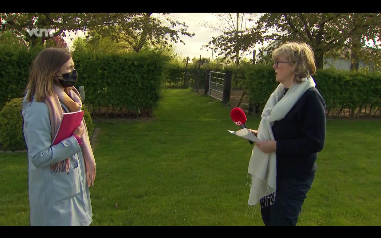 Veerle Heeren geeft interview aan VTM maar wel met een grote spiekbrief Beeld VTM