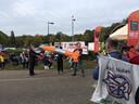 In september vorig jaar voerden activisten nog actie bij de poort van vliegbasis Volkel
