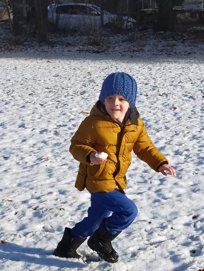 Sneeuwpret in Leende