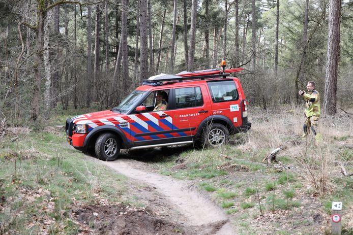 Brandweer schiet te hulp bij gewonde mountainbiker in Kaatsheuvel.
