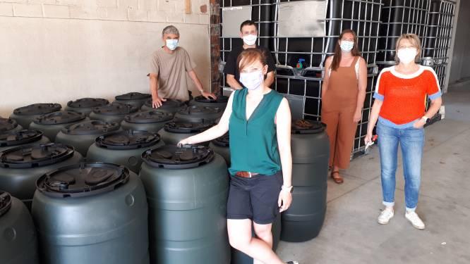 Werkgroep Klimaat verdeelt bijna 100 regentonnen en -vaten