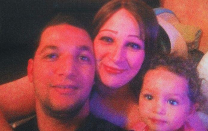 Slachtoffer Redouan Mansour, zijn echtgenote en zijn oudste dochtertje