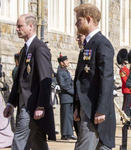 Sobere uitvaart prins Philip brengt Harry en William nader tot elkaar