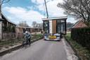 De woningen zijn met speciaal transport van Wanders Chaletbouw naar De Haart gebracht.