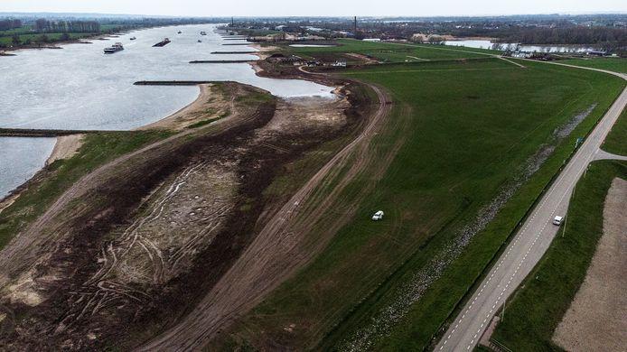 De aanleg van de overnachtingshaven.