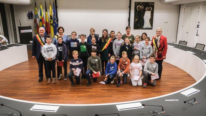 De kindergemeenteraad in Zwevegem werd voorgesteld.