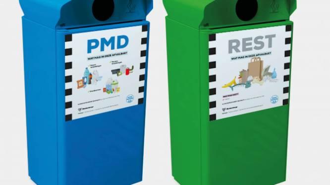 Voortaan grotere en aparte afvalbakken voor restafval en pmd in centrum van Blankenberge