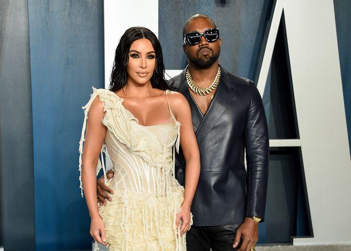 Kim Kardashian en Kanye West.