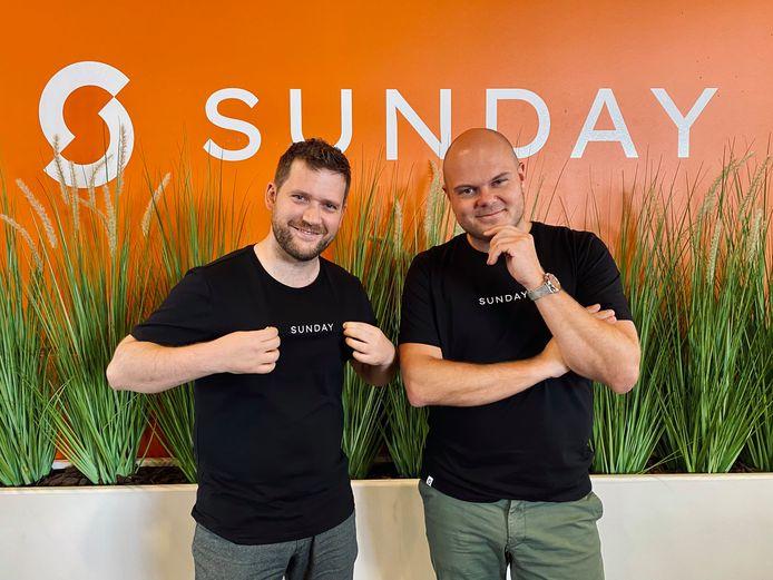 Niels Vandecasteele en Steven Callens van Sunday
