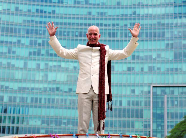 Jeff Bezos van Amazon is de rijkste mens op aarde met een vermogen van bijna 117 miljard dollar. Beeld REUTERS