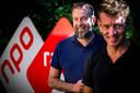 NPO Radio 2-dj's Jan-Willem Roodbeen en Jeroen Kijk in de Vegte. Zj startten de petitie om Loeki de Leeuw terug te halen op tv.