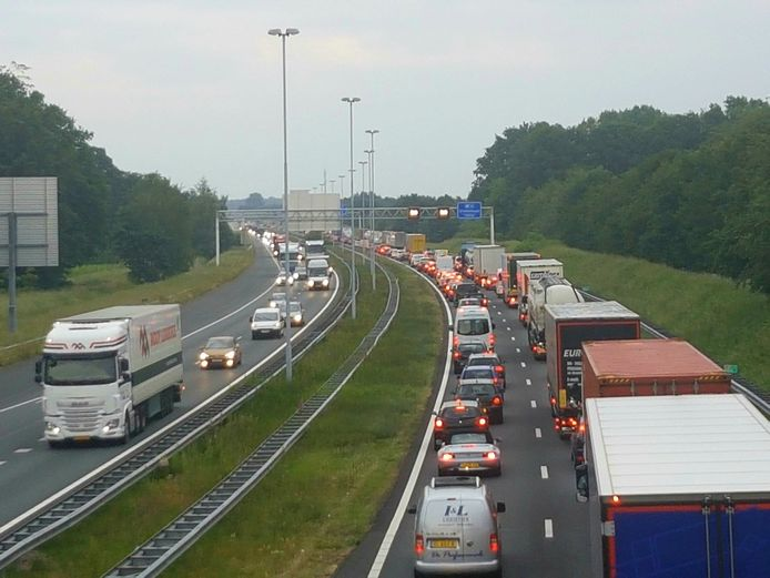 Vrijwel dagelijks files op de A58 tussen de knooppunten Galder en Sint-Annabosch.