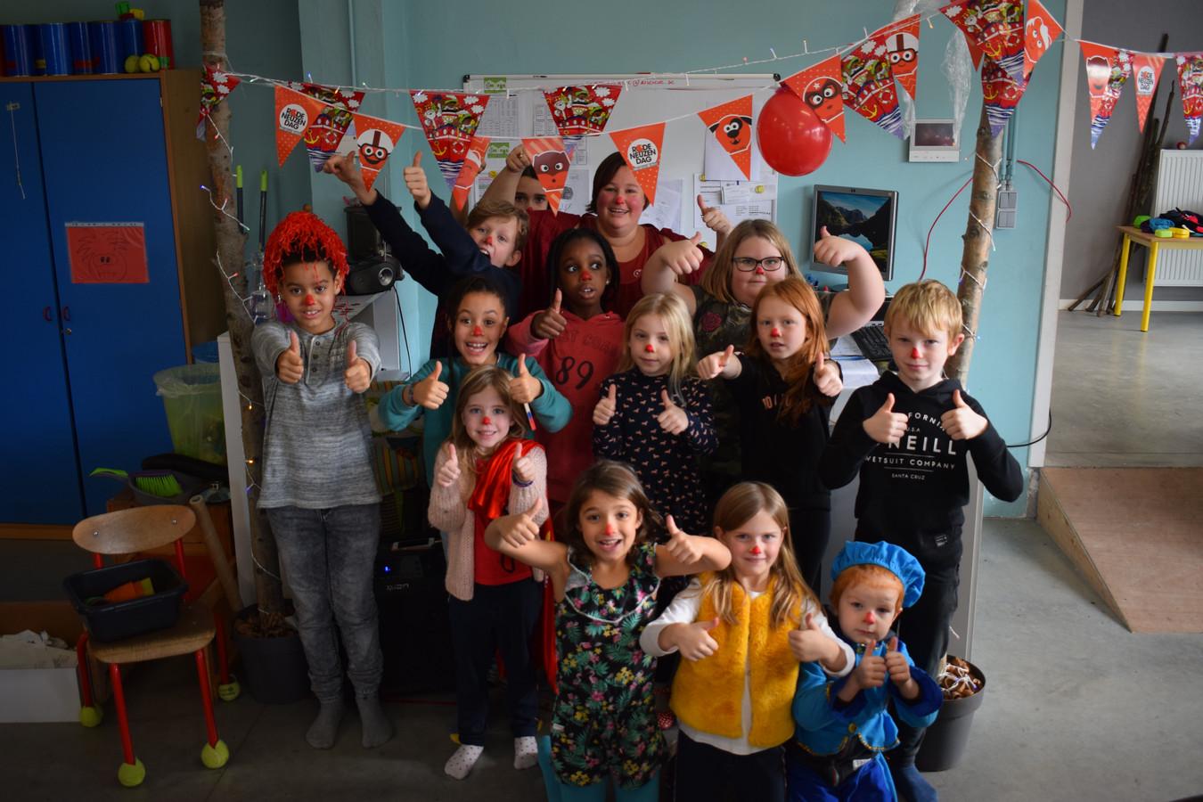 De kinderen kwamen in Assenede met een rode neus naar het IBO.