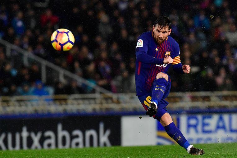 Lionel Messi voetbalde 21 jaar voor FC Barcelona.  Beeld AP
