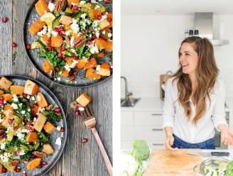 Karolien Olaerts van Karola's Kitchen deelt haar 3 favoriete recepten bomvol groenten. Geroosterde pompoen met feta en granaatappel, iemand?