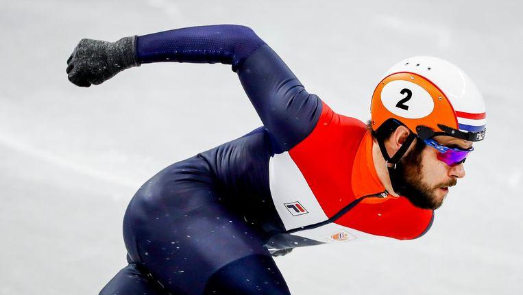 Knegt ligt er uit op de 500 meter, en dat betekent voor hem einde Olympische Spelen Beeld ANP