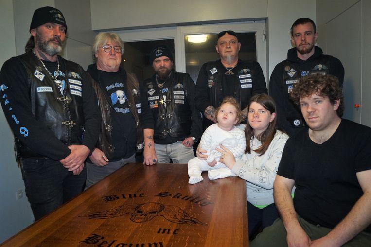 De leden van MC Blue Skulls organiseren een benefiet voor Luk (2).