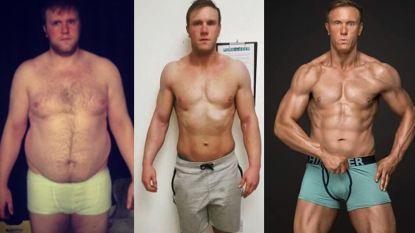 Alex (31) moest sportdroom opgeven door blessure. Hij belandde in depressie en kwam bij tot hij 150 kilo woog. Maar hij gooide het roer om