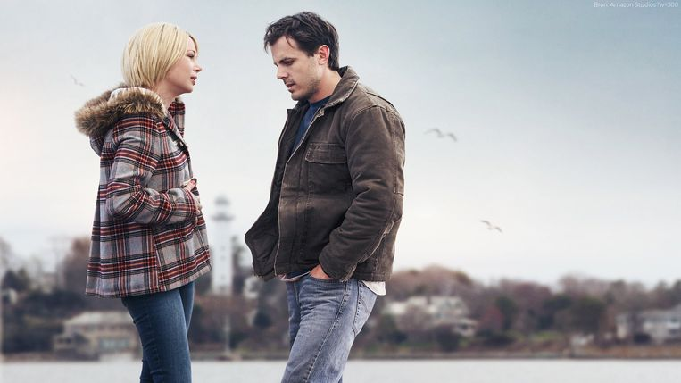 Michelle Williams en Casey Affleck in Manchester by the Sea. Beeld