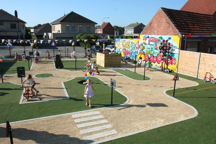 Op het verkeerspark kunnen de kinderen de verkeersregels spelenderwijs inoefenen.