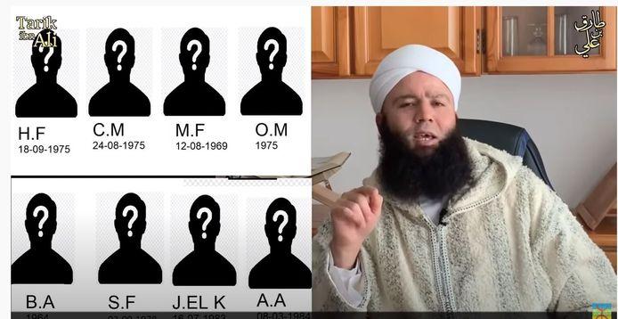 Tarik Ibn Ali (rechts) dreigt de gezichten en namen van in totaal negen bestuursleden te openbaren om de mannen aan de schandpaal te nagelen.