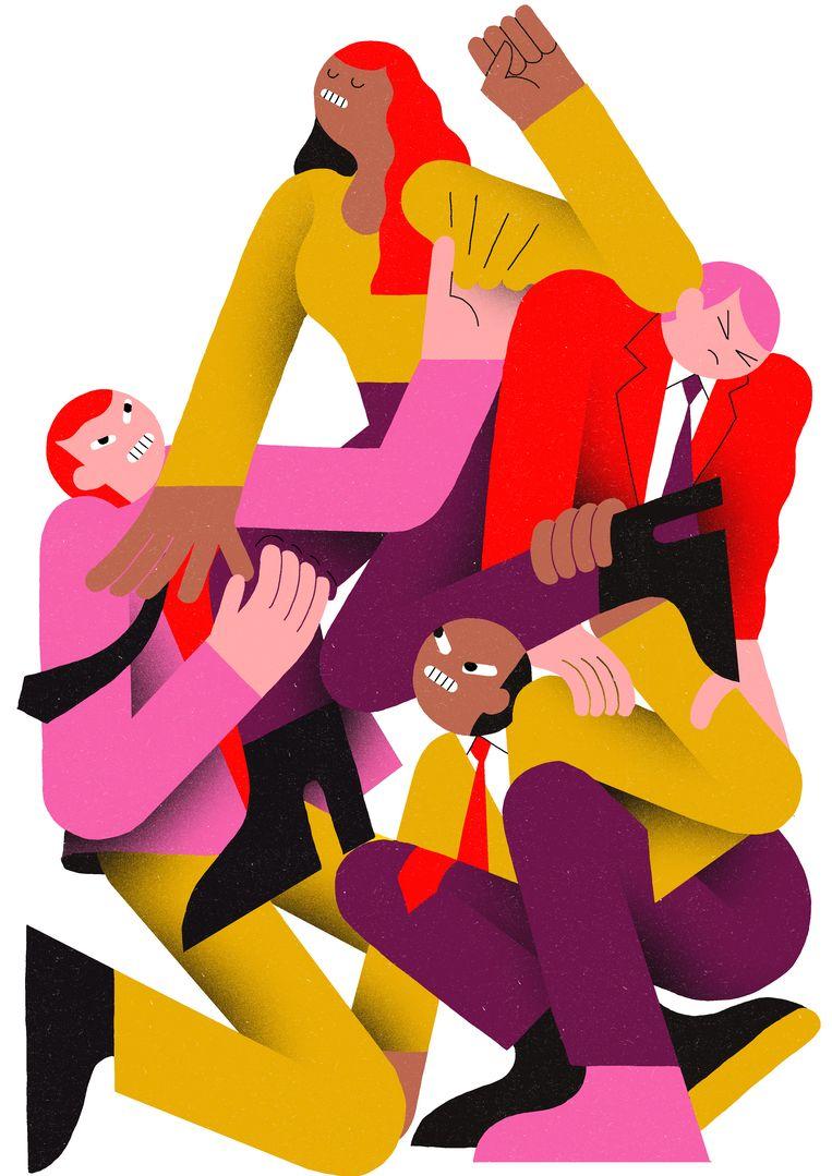 'Ik krijg de laatste tijd weleens de vraag wat het allerbelangrijkste is voor de XX-economie en ik antwoord altijd hetzelfde: kinderopvang.' Beeld Levi Jacobs