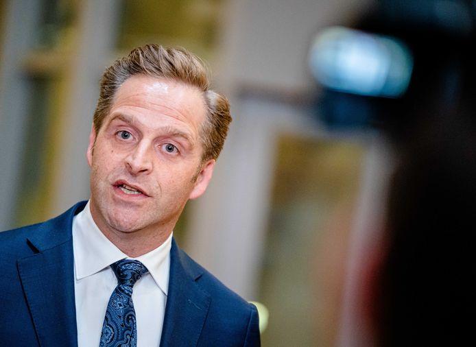 Demissionair minister Hugo de Jonge van Volksgezondheid.