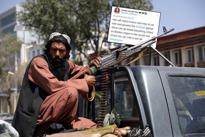De tweet over Afghanistan die Saskia van Der Elst verwijderde.