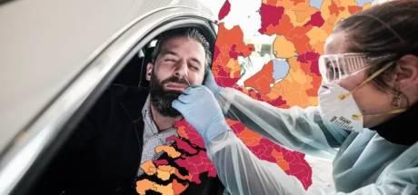 CORONAKAART | Aantal besmettingen in regio daalt licht, kijk hier hoe het in jouw gemeente zit