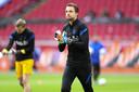 Tim Krul vorige maand bij het Nederlands elftal.