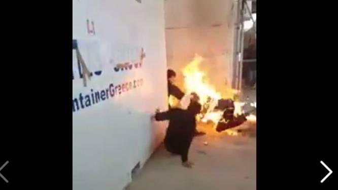 Syrische vluchteling steekt zichzelf in brand in Grieks detentiekamp
