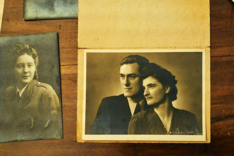 Willy Van Paemel en Yvonne Schollen in de jaren '40.  Beeld Thomas Nolf