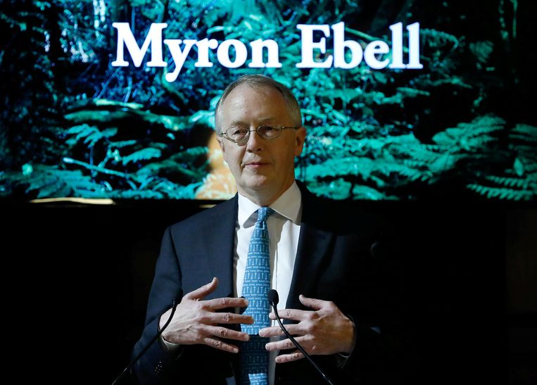 Myron Ebell, who leads U.S. President Donald Trump's Environmental Protection Agency's transition team, holds a speech at the Solvay library in Brussels, Belgium February 1, 2017. REUTERS/Yves Herman Beeld REUTERS