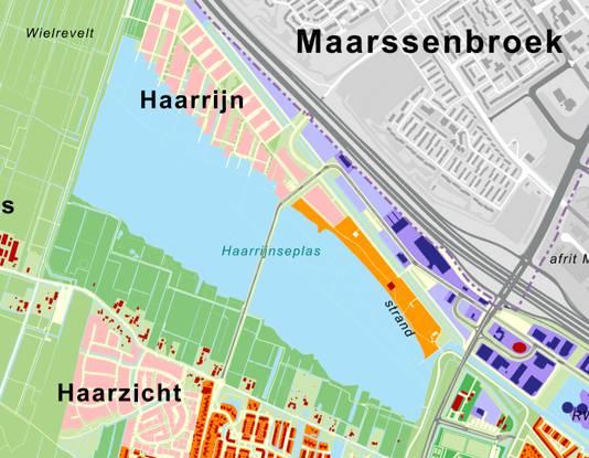 Het bouwproject Haarrijn bevindt zich ten noordwesten van de plas en zal in 2019 starten.