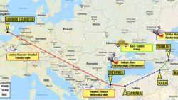 Een avontuur van 4.588 kilometer houdt vader en zoon niet tegen om Chelsea aan te moedigen in Bakoe