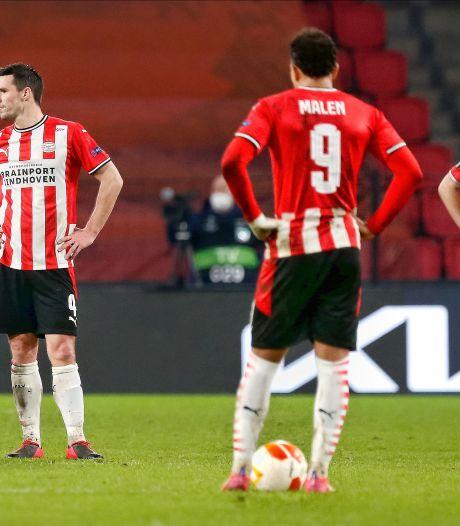 Sprookje wordt een nachtmerrie: PSV ligt na extreem late opdoffer uit Europa
