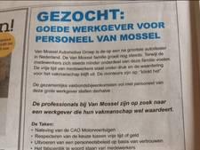 Ruzie over advertentie bijgelegd: Van Mossel en FNV Metaal zijn weer vrienden