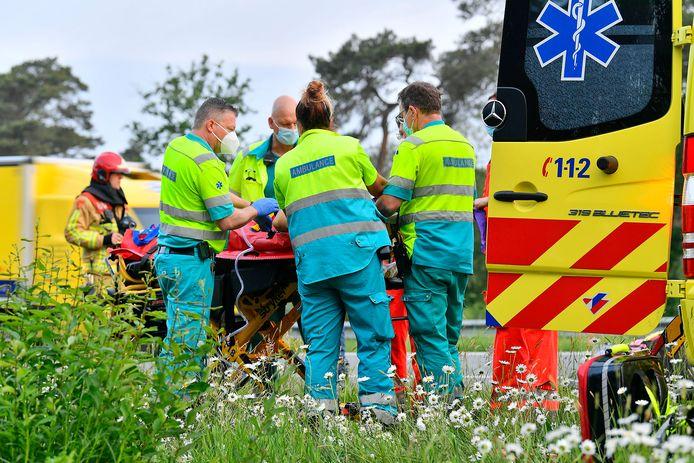Vrouw gewond bij eenzijdig ongeval op de A67 bij Eersel.