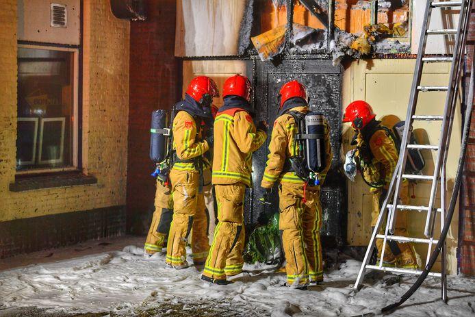 Brand in opbergschuur café de Bommel Valkenswaard