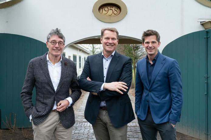 Vlnr  Dirk Lips, Albert Verlinde en Jeroen Dona bij de presentatie van de plannen voor een musical in de openlucht.