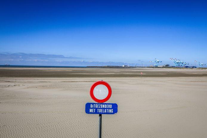 Het brede strand van Zeebrugge: ideaal om er tijdens corona van de zon te genieten. Straks ook met vroegere inzet van redders?