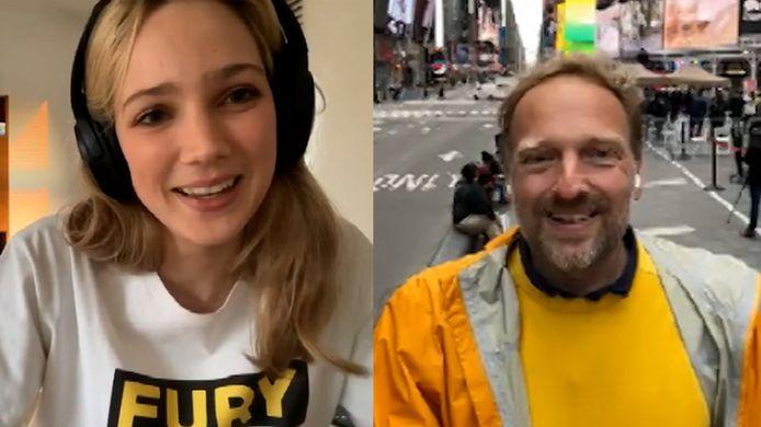 Lauren Versnick en stadsgids Patrick van Rosendaal